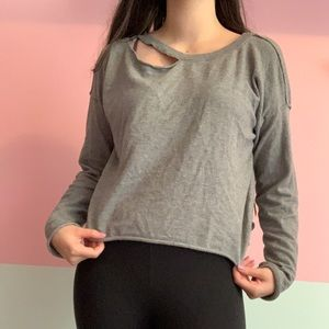3/30$ Grey sweater/ pullover sweatshirt